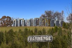 Stop By This Structure That Was Created By Mark Cline That Is The Foamhenge