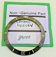 inserto Lunetta ghiera verde ceramica Bezel x Rolex submariner 116610 green Rolex Submariner, Digital Watch, Ads, Green