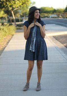 @Gap dress @Karen Kane scarf @hm hat @Target booties