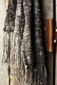 Hand Woven Scarf Hand Spun Alpaca Fiber Open by SouthernTextiles