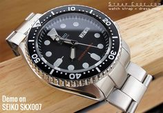 22mm Super Oyster watch band for SEIKO Diver SKX007/009/011 Curved End   strapcode