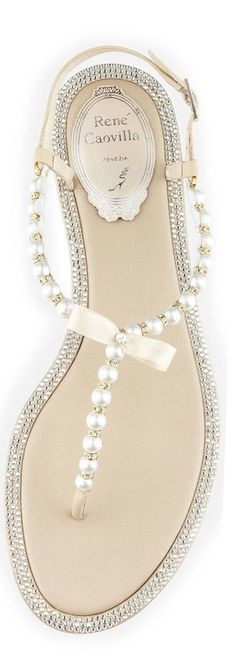 beautiful summer shoes by #rene #caovilla. perfect with white jeans!