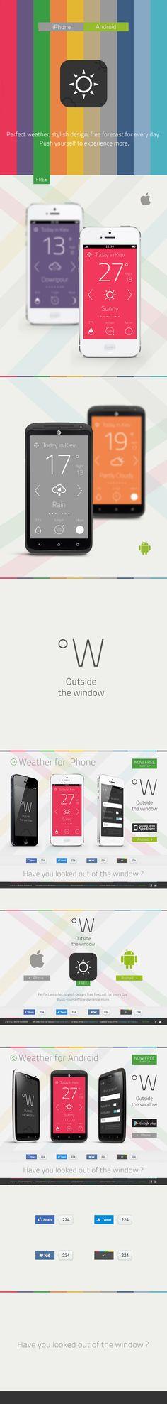 """Weather App """"Outside the window"""" on Behance"""