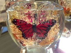 Beautiful Butterfly Gel Candle by GeekyCraftsNMore on Etsy, $10.00