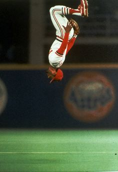 St. Louis Cardinals shortstop Ozzie Smith does a flip as he takes his position on the field during the 1985 World Series in St. Louis. Smith...