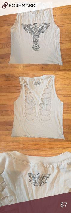 Billabong graphic tank with cutouts Billabong graphic muscle tank with back cutout details. Size small (I am an extra small and it fits just a little roomy). All prices are negotiable! Make me an offer! ☺️ Billabong Tops Muscle Tees