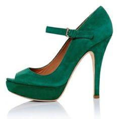 Emerald Green Suede Shoe