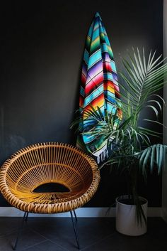 Rattan With Round Shape Comfortably Chic Wicker Swing, Deco Jungle, Bamboo  Furniture, Beach