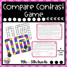 This Compare and Contrast Firsthand and Secondhand Accounts Game is an interactive way to reinforce this reading comprehension skill. Firsthand and secondhand accounts are not easily found for 4th/5th grade levels but this game is low prep for the busy teacher