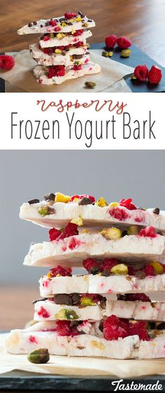 Stay cool! Break off a piece of this refreshing frozen yogurt bark. The perfect recipe for when you've had a long day. Trust us.