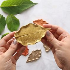 clay art projects LEAF CLAY DISHES This may be one of our favorite Fall art projects. Its actually easier than it looks too! Grab some air dry clay, Easy Diy Crafts, Crafts To Do, Home Crafts, Kids Crafts, Crafts To Make And Sell Unique, Easy Gifts To Make, Easy Handmade Gifts, Leaf Crafts, Diy Crafts For Gifts