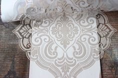 Raised Stencil Texture Technique! - The Graphics Fairy  & Heather from Thicketworks. http://thicketworks.com/?s=furniture Stencil: Mix  Venetian Texture Medium, with chalk paint. Will turn any water based paint into texture paste! Used about 1/2 a cup of Heirloom Traditions Chalk Type Paint: Row House  - See more at: http://thegraphicsfairy.com/raised-stencil-texture-technique/#sthash.ehHiOiqk.dpuf
