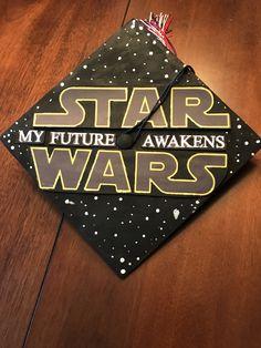 Star Wars graduation cap idea. My future awakens. // follow us @motivation2study for daily inspiration