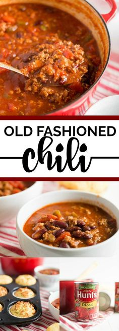 Old fashioned chili recipe. This is so easy! It's seriously THE BEST. We love it. #chilirecipe #chili #recipes #comfortfood #yum #yummy #yummyfood