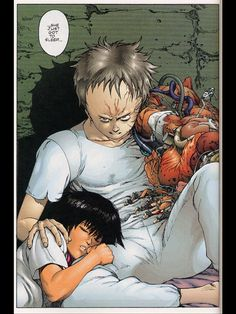 Midway through Tetsuo's transformation in Akira. The colours are fantastic.