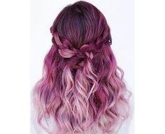 Image result for orange and pink dip dye hair