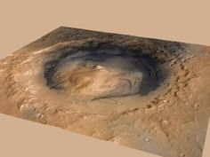 A June 2012 revision of the landing target area for Curiosity, the big rover of NASA's Mars Science Laboratory mission, reduced the area's size. It also put the center of the landing area closer to Mount Sharp, which bears geological layers that are the mission's prime destination.   Image: NASA