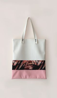 Leather Tote / Leather Shopper Bag white / pink / black / nude leather tote