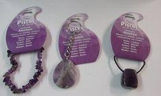 Gemstone : Set of Three: Zodiac -- Birthstone Amethyst Pisces - Key Ring, Cord Necklace & Bracelet. | BirthstoneRing