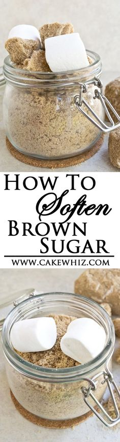 Use these tips and tricks to prevent brown sugar from hardening and also learn how to SOFTEN BROWN SUGAR quickly! From cakewhiz.com