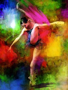 Ballet is an art in motion combined as a painting and vibrant colors. This is true multi-art. If you have a well lit room this piece would compliment that room. It also goes well with a room that has a piano in it, preferably a baby grand.