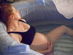 Home water birth using HypnoBirthing by Creating Your Calm. ****Includes pictures of a vaginal water birth****