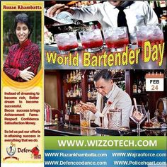 World Bartender Day  World Bartender Day is the day to appreciate the staff in your local bar. They work hard to keep their customers happy and often dont get paid very well! Remember to always be friendly to the bartender especially by being patient if you have to wait to be served. Give the bartender a smile and say please and thank you  the bartender will appreciate it and you are more likely to get better service next time you buy a drink. Most importantly if youre in a country where…