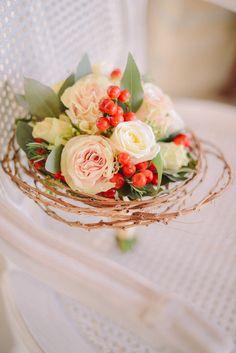 bouquet invernale con bacche