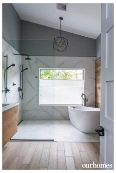 Bathroom decor for your master bathroom renovation. Learn master bathroom organization, bathroom decor suggestions, bathroom tile tips, master bathroom paint colors, and much more. Bad Inspiration, Bathroom Inspiration, Bathroom Ideas, Bathroom Organization, Wet Room Bathroom, Bathroom Storage, Bathroom Designs, Small Bathroom, Concrete Bathroom