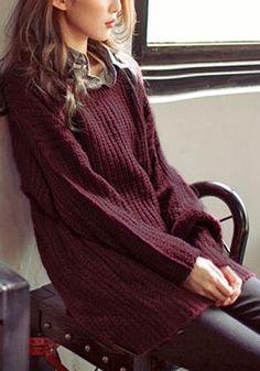 Port Knitted Pullover - Scoop Neckline Pullover