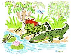 Make Like An Alligator - illustrations for children