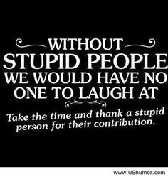 Without stupid people US Humor