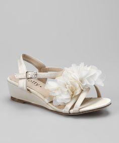 Take a look at this Beige Natala Wedge Sandal by Dotty Shoes on #zulily $12.99