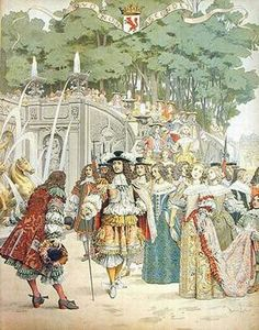 The King is greeted by Fouquet at Vaux Le Vicomte