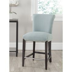 Shop for Safavieh 25.9-inch Seth Sky Blue Counter Stool. Get free shipping at…
