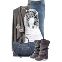 """""""Blue & Grey"""" by michelled2711 on Polyvore"""