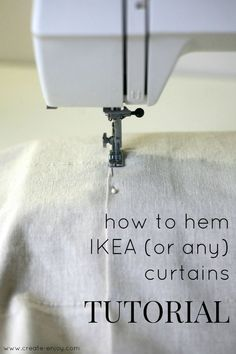 This is a super useful tutorial! I'm excited to share it, and proud of myself for nailing down my method and using it on a pair of curtains ...