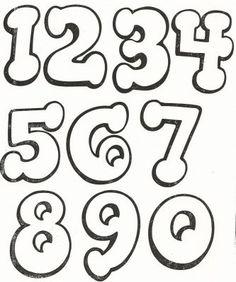 moldes com numeros grandes diferentes para imprimir                                                                                                                                                                                 Mais