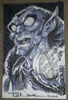 Original Green Goblin artwork by Todd Nauck