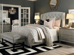 Lovely bed and nightstand