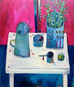 Blue jug painting Este MacLeod