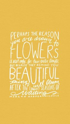 Yes! Be a flower, bloom from within and let the glow of beauty shine through