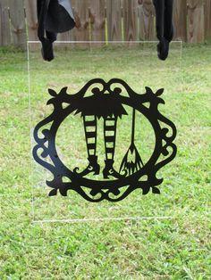 Superb #Halloween Garden Plexiglass Flag #Witchu0027s Feet With By HugsLove, $12.00