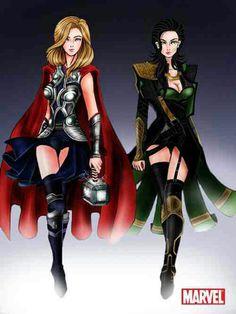 Thor/Loki costumes