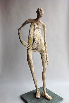 esculturas Ceramic Sculpture Figurative, Metal Art Sculpture, Pottery Sculpture, Modern Sculpture, Abstract Sculpture, Wall Sculptures, Swamp Creature, Charcoal Portraits, Shadow Art