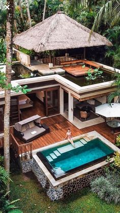 Beach house with pool and extensive wooden terrace. blocks for architects and designers! Creative ways to present projects and present ideas of architecture and decoration. Modern Architecture House, Modern House Design, Architecture Design, Seattle Architecture, Architecture Student, Landscape Architecture, Living Haus, Design Exterior, Luxury Homes Dream Houses
