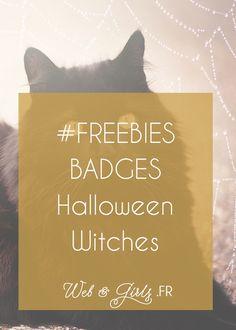 #Freebies - Badges #Halloween Witches pour barre latérale de #blogs