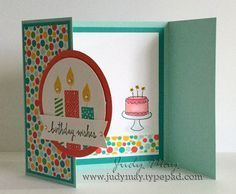 Build a Birthday, Endless Birthday Wishes tri-fold birthday card Love it! Tri Fold Cards, Fancy Fold Cards, Folded Cards, Birthday Wishes, Card Birthday, Kids Birthday Cards, Handmade Birthday Cards, Bday Cards, Greeting Cards Handmade