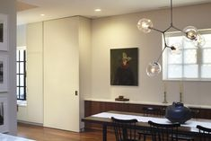 Dining Area with chandelier in Pulltab Project on White Street, Tribeca, New York, Photos, Mikiko Kikuyama | Remodelista