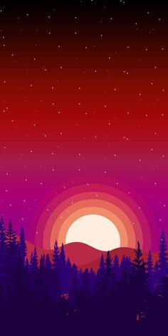 Wallpaper Phone Minimalist Design 43 Ideas For 2019 Sunset Wallpaper, Scenery Wallpaper, Cool Wallpaper, Mobile Wallpaper, Wallpaper Backgrounds, Wallpapers Android, Phone Screen Wallpaper, Iphone Wallpaper, Minimalist Landscape